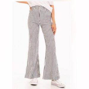 Striped flare pants!